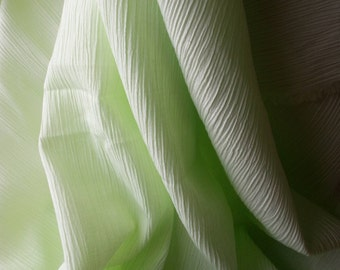 Lime Green Fabric/ Crinkle skirt/ broomstick skirt/ pastel green/ spring fabric/ summer fabric/ Sheer fabric/ cotton fabric CarolJoyFashions