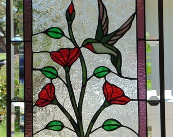 Stained Glass Window Hanging 20 X 16