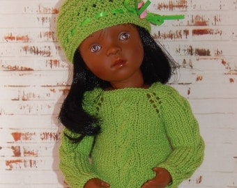 Hand Knit Clothes Outfit for 13 inch dolls such as Minouches