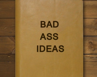 BAD ASS IDEAS | Tan Leather Notepad