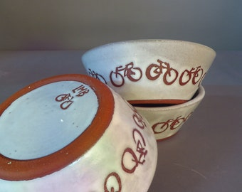 Bicycle bowl, for cereal, soup, trinkets, etc.