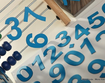 """2"""" Magnetic DIGITS on the Fridge, Magnets, 5 cm Blue Magnetic Numbers, MagWords"""