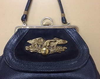Roger Van S Vintage Leather Handbag
