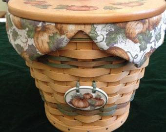 Longaberger Autumn Pail Basket