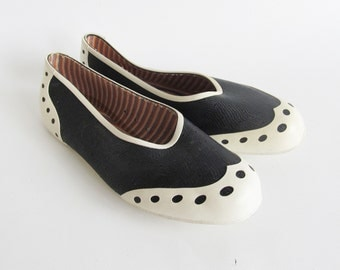 Vintage Jelly Slip ons • Rubber Shoes • Jellies • Jelly Shoes • Rubber Shoes • Rubber Slip Ons • Ballerina's • Mod • US 6.5 • EU 37 • UK 4