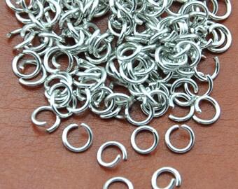 6MM 18ga White K Jump Rings High Quality, DIY Accessory Jewelry Making------Q00141-6MM