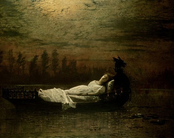 John Atkinson Grimshaw: The Lady of Shalott. Fine Art Print/Poster. (003646)