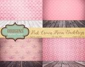 Pink Room Digital Backdrop photo backgrounds, digital scrapbook paper, royal crown wallpaper distressed wood texture digital photograph