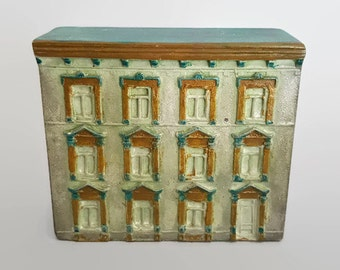 Pasdeloup Quebec architectural miniature townhouse plaster sculpture