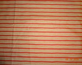 1 1/4 Yards Orange Stripe Sassy Cotton Fabric by Sandy Gervais for Moda - #17647