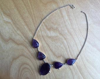 Purple stone necklace -- 507
