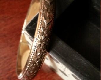 Whiting & Davis vintage bracelet, vintage bracelet, vintage bangle bracelet, antique bracelet, vintage Whiting and Davis, vintage jewelry