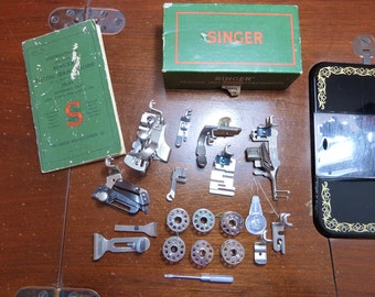 Singer 15-91 Sewing Machine Manual and Attachments