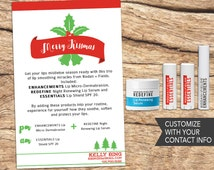 R+F Holiday Lip Instructions Card- with Customized Contact