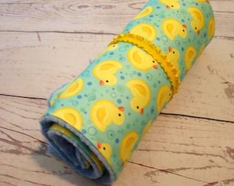 Baby Changing Pad,Travel Change Mat,Diaper Change,Waterproof pad,Duck print,Blue,Baby Gift,PUL fabirc,Baby Diaper Change Pad,Waterproof Mat