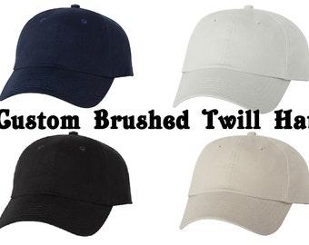 Custom Printed Valucap Unstructured Brushed Twill Cap