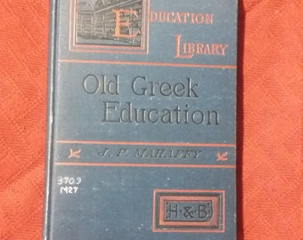 The Education Library, Old Greek Education, Greek Language Book, Vintage Greek Education, Vintage Greek Books, Vintage Greek Language, Greek