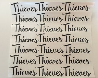 Thieves Labels by the SHEET