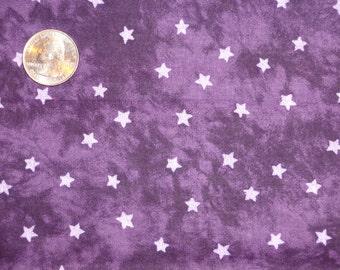 "Purple Lavender Stars Batik Mottled Cotton Quilting Fabric 1 yard + 31"" inches"