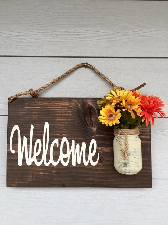home decor custom sign us3999 rustic outdoor welcome sign in dark stain wood signs front door sign rustic