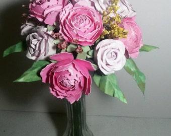 Bridal bouquet, wedding bouquet, bouquet of peonies, bouquet of roses