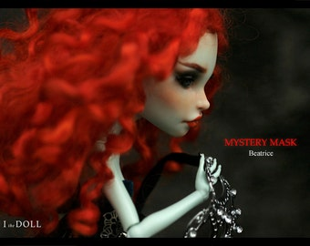 Monster High Repaint Art Doll OOAK –  Scarah Screams  | Beatrice –  Mystery Mask Doll 3/5