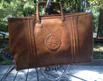 "Reduced! Vintage 70s American Luggage Tourister vegan-friendly ""leather"" portfolio bag"