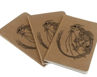 Dragon Fossil Journal - Moleskine - Note - Sketch - Book - A5