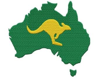 Australia 3 Sizes  Solid Fill Machine Embroidery DESIGN NO. 637