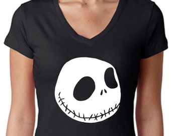 Jack Skellington T-shirt or Tank Top, Men, Women, Racerback, The Nightmare Before Christmas, TNBC, Oogie Boogie, Jack and Sally, Burnout