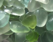 Sea Glass, Bulk, Beach Glass for Crafts and  Jewelry Making, Mosaics, Sea Foam, Green and White  , Caribbean Sea Glass