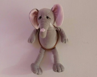 Elephant Animal Head Wall Decoration (Soft Toy)