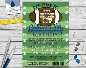 Printable Football Birthday Invitation / DIGITAL Sports VIP Invite
