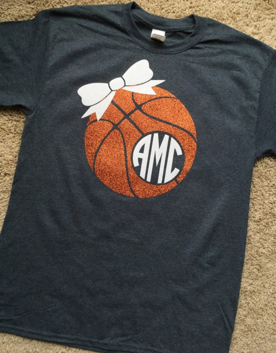 basketball vinyl monogrammed shirt short sleeve for youth and