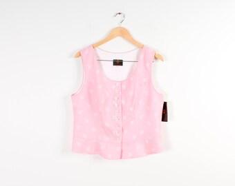 Dirndl Women Vest Pink Waistcoat Vest Romantic Floral Corset Button Up Women Waistcoats