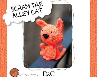 Scram the Alley Cat Knitting Pattern Download 803227