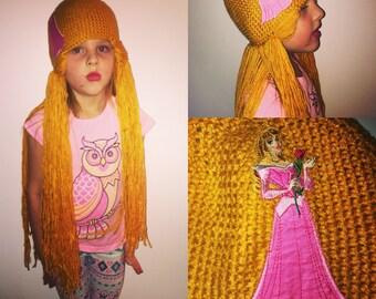Sleeping beauty inspired crotchet wig
