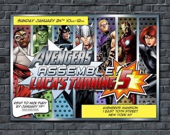Avengers Superheroes Birthday Invitation / Avengers Printable Invitation / Superheroes Invitation / DIY Printable