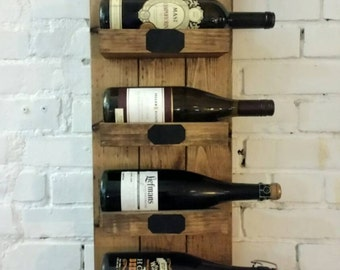 Rustic Wine Rack Wine Shelf Beer Shelf Industrial Chic Wine