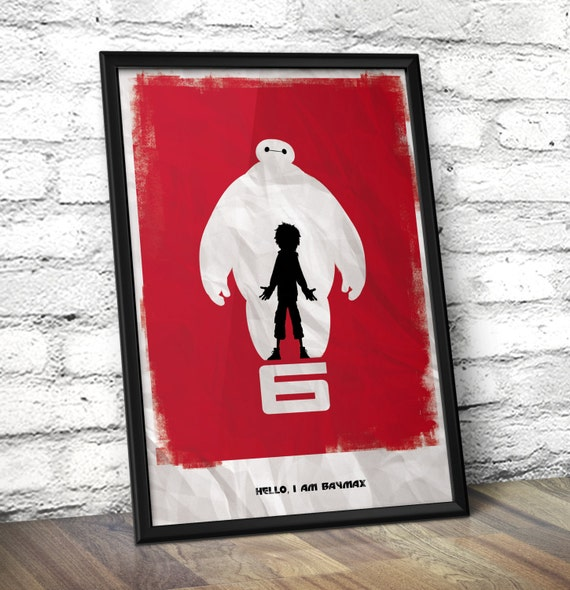 Big Hero 6 Inspired minimalist print - Baymax Inspired Minimalist Wall Art - Disney inspired minimalist poster