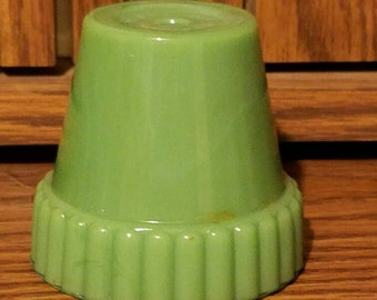 Akro Agate Jade Planter/Candle Holder