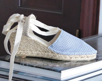 Lace-up espadrille wedges - PETIT COLLECTION - mumishoes - made in spain