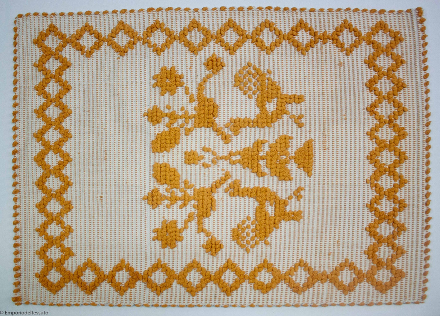 bath rug gallinelle small by emporiodeltessuto on etsy