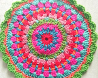 crochet tea pot doily