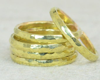 Super Thick Stackable Brass Ring(s), Brass Rings, Stackable Rings, Brass Ring, Hammered Ring, Brass Band, Arthritis Ring, Brass Jewelry