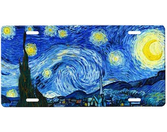 Starry Night License Plate