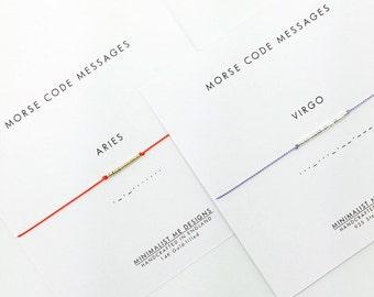 Morse Code star sign bracelet