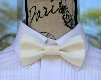 Off White Bow Tie 200B - Groom - Weddings - Graduation - Special Occasions - Pre-Tied Bowties