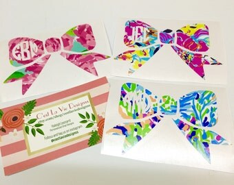 Lilly Pulitzer Bow Decal Sticker