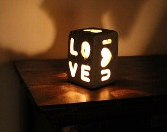 Stone candle holder. Creates a romantic atmosphere. Handmade.